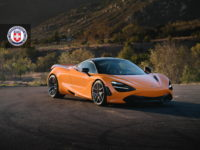 McLaren 720S with HRE Wheels and Astonishing Azores Orange Body Wrap