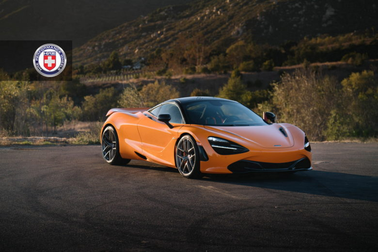 McLaren 720S with HRE Wheels and Astonishing Azores Orange Body Wrap
