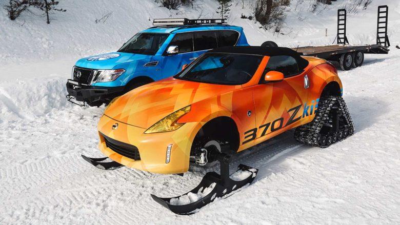 Nissan Creates Unique 370Z Snowmobile